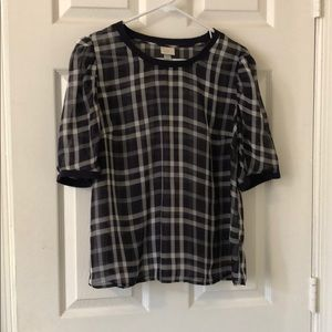Target A New Day Large Sheer Plaid Blouse